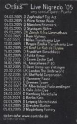 Diary of Dreams tour 2005